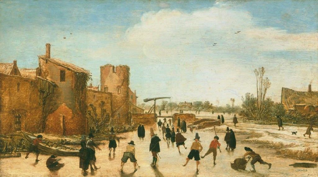 Winter Games on the Town Moat by Esaias van de Velde