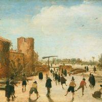 Winter Games on the Town Moat by Esaias van de Velde