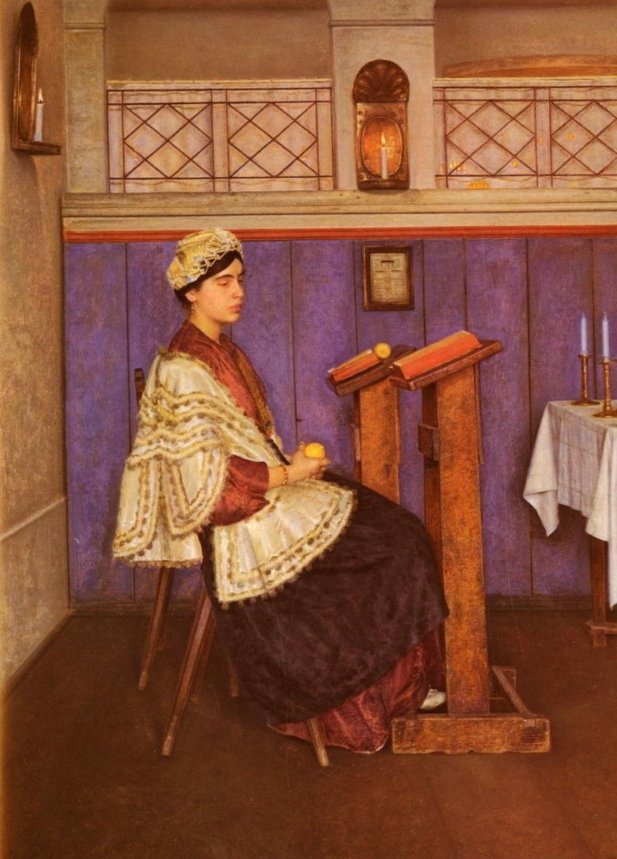 Young Woman in the Synagogue by Isidor Kaufmann