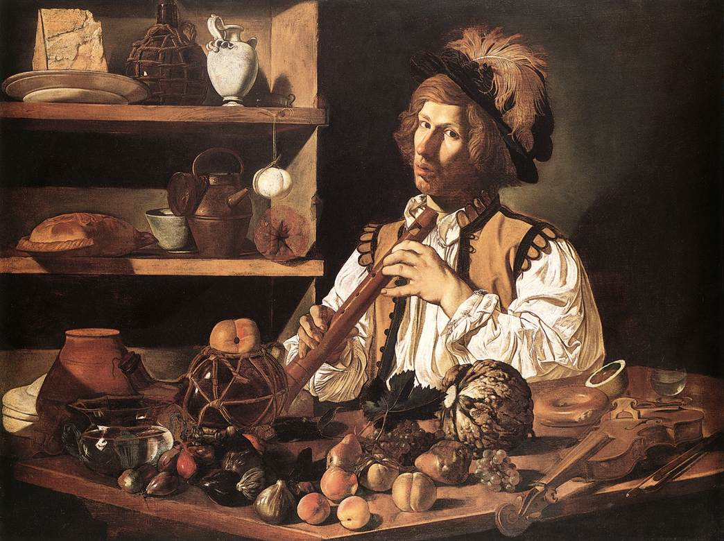The Flute Player by Cecco Del Caravaggio