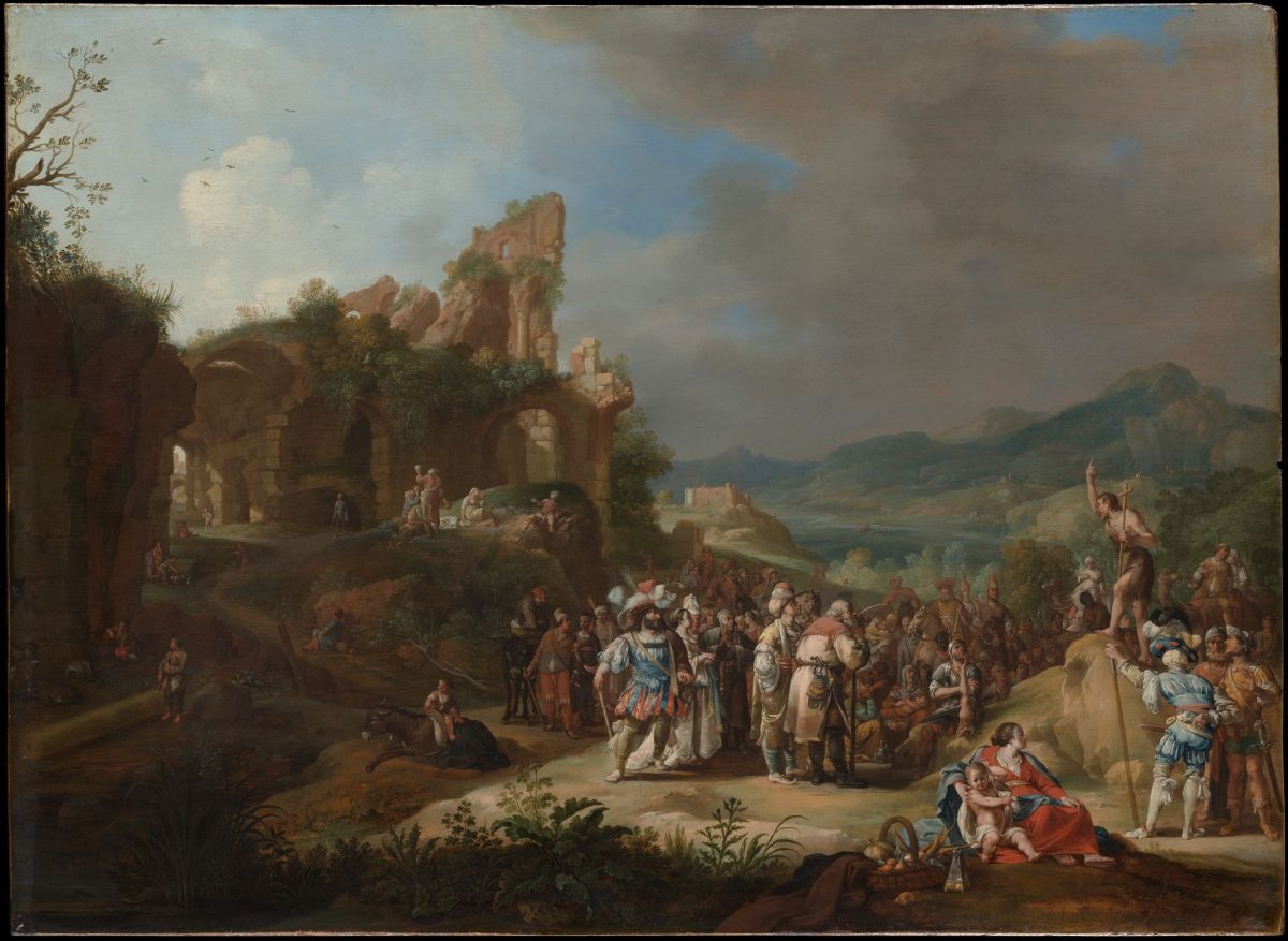 The Preaching of St John the Baptist by Bartholomeus Breenbergh