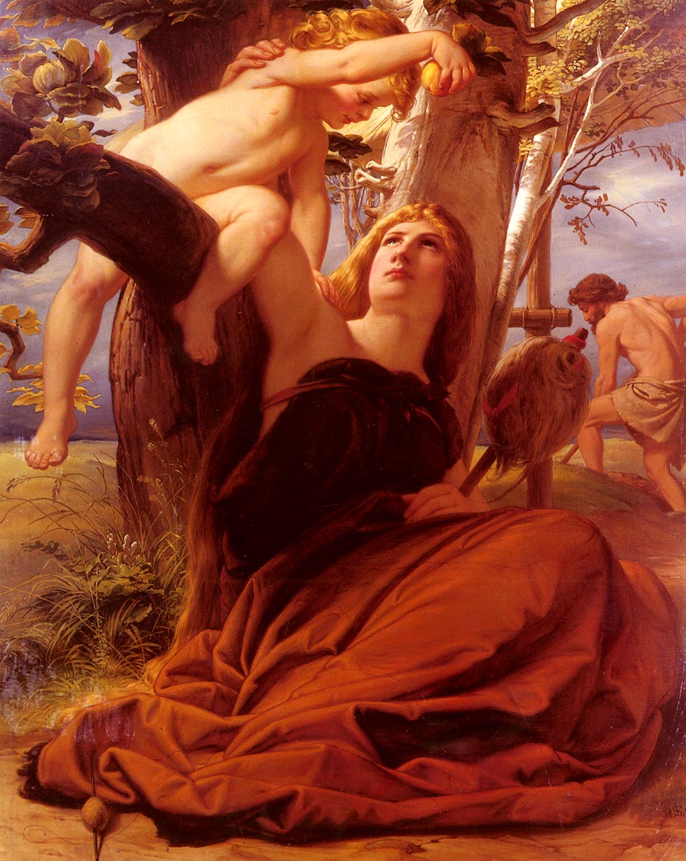 Adam and Eve after the Fall by Edward von Steinle