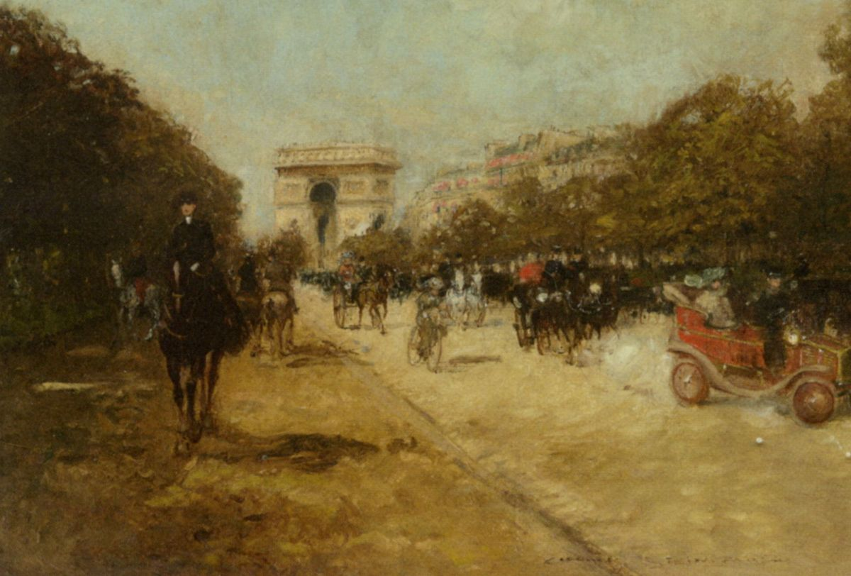 Arc de Triomphe seen from Avenue Foch by Georges Stein