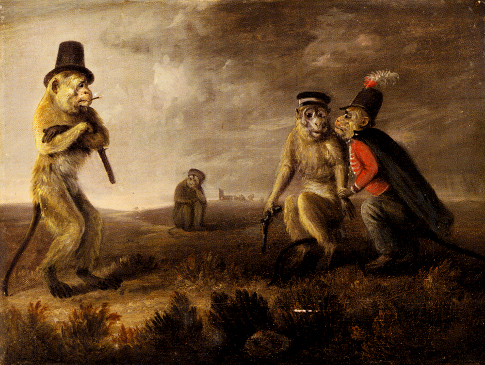 Before The Monkey Duel by Edmund Bristow