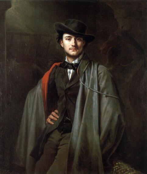 Bildnis Des Malers Baron Jessenack Von Bela by Carl Steffeck