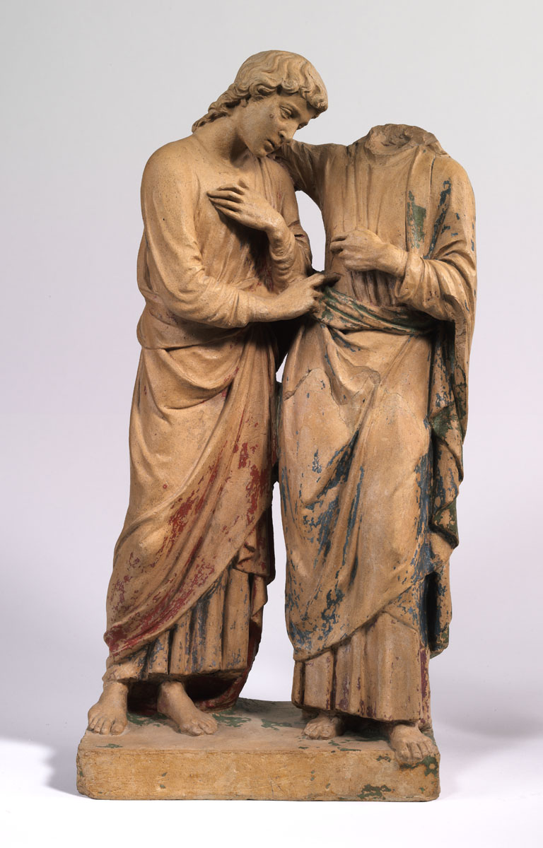 Christ and Thomas by Luca della Robbia