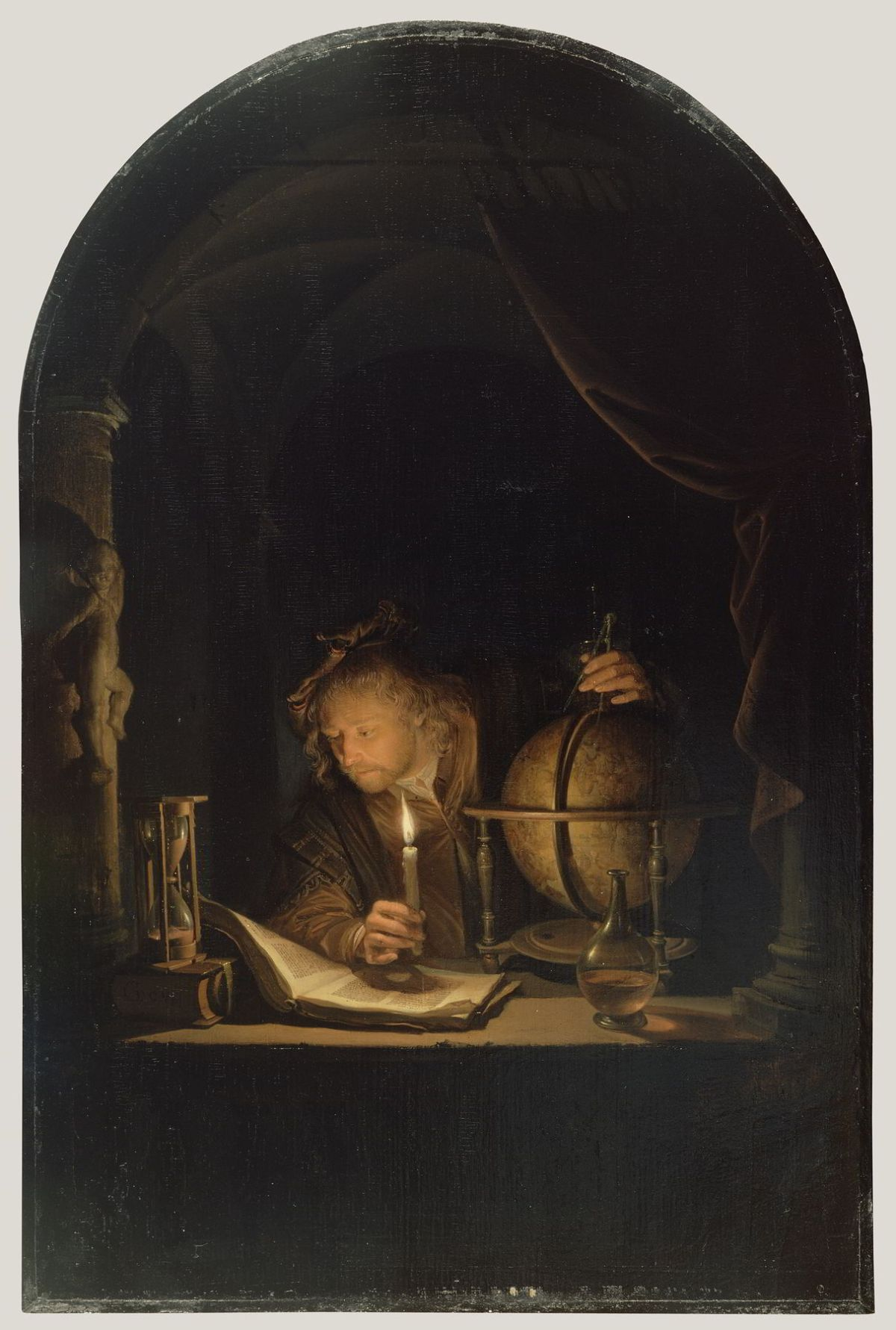 The Astronomer by Candlelight by Gerrit Dou