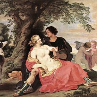 Venus and Adonis by Abraham Janssens
