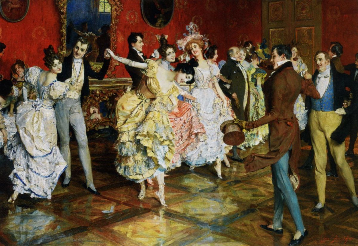 At the Ball by Leopold Schmutzler