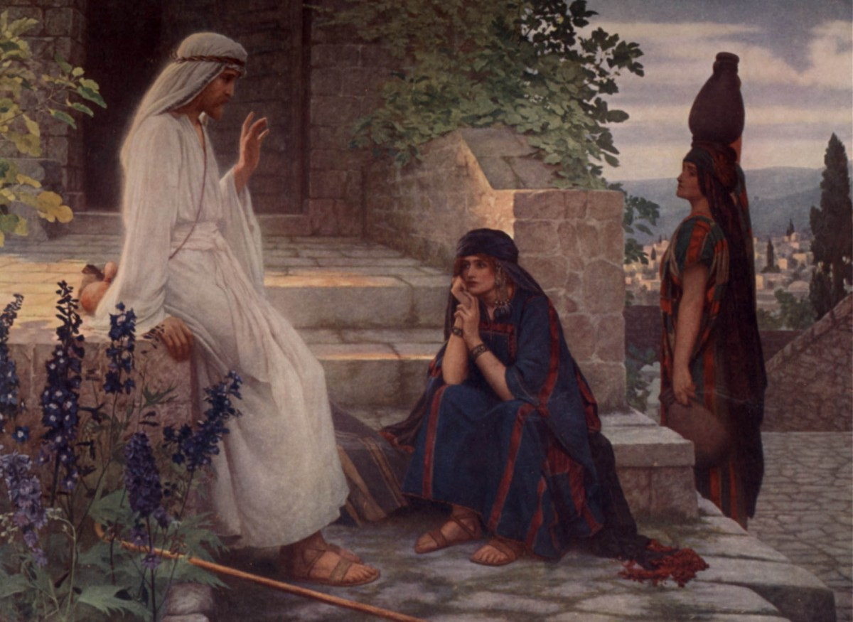 Home of Bethany by Herbert Gustave Schmalz