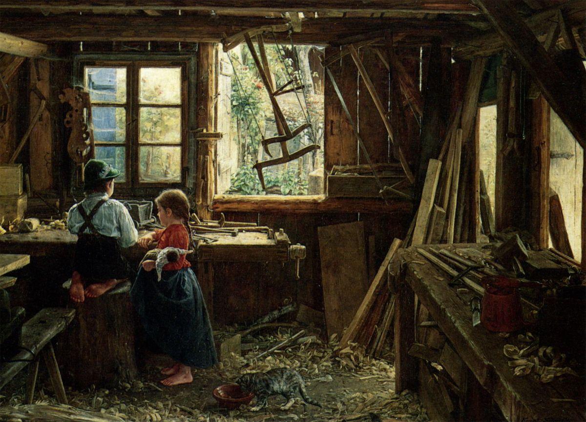 In Der Werkstatte by Ernst Schmitz