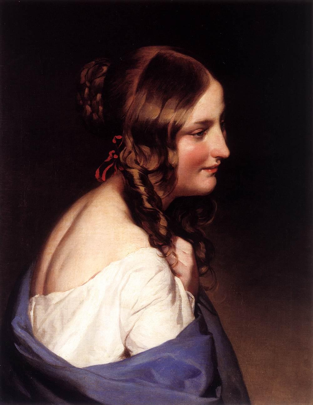 Likeness of a Girl by Friedrich von Amerling