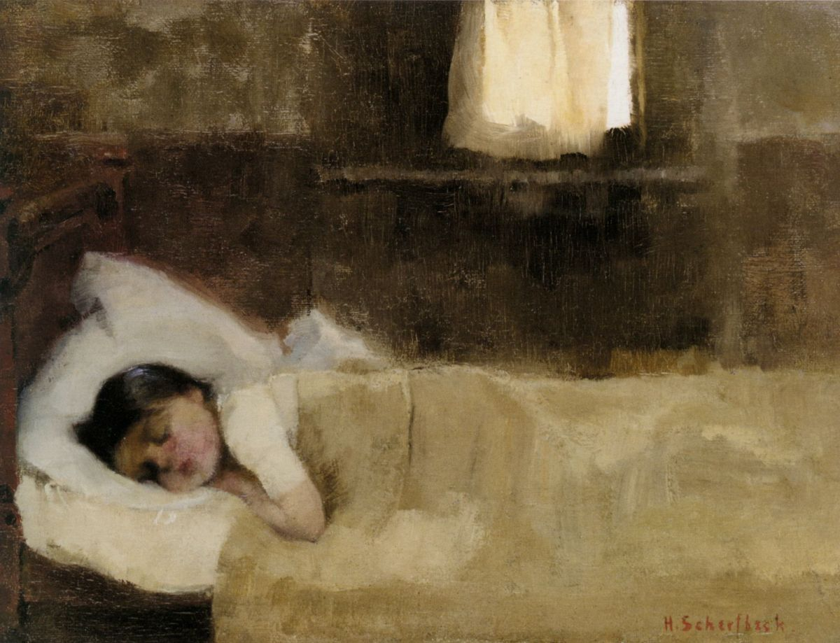 Nukkuva Tytto by Helene Schjerfbeck