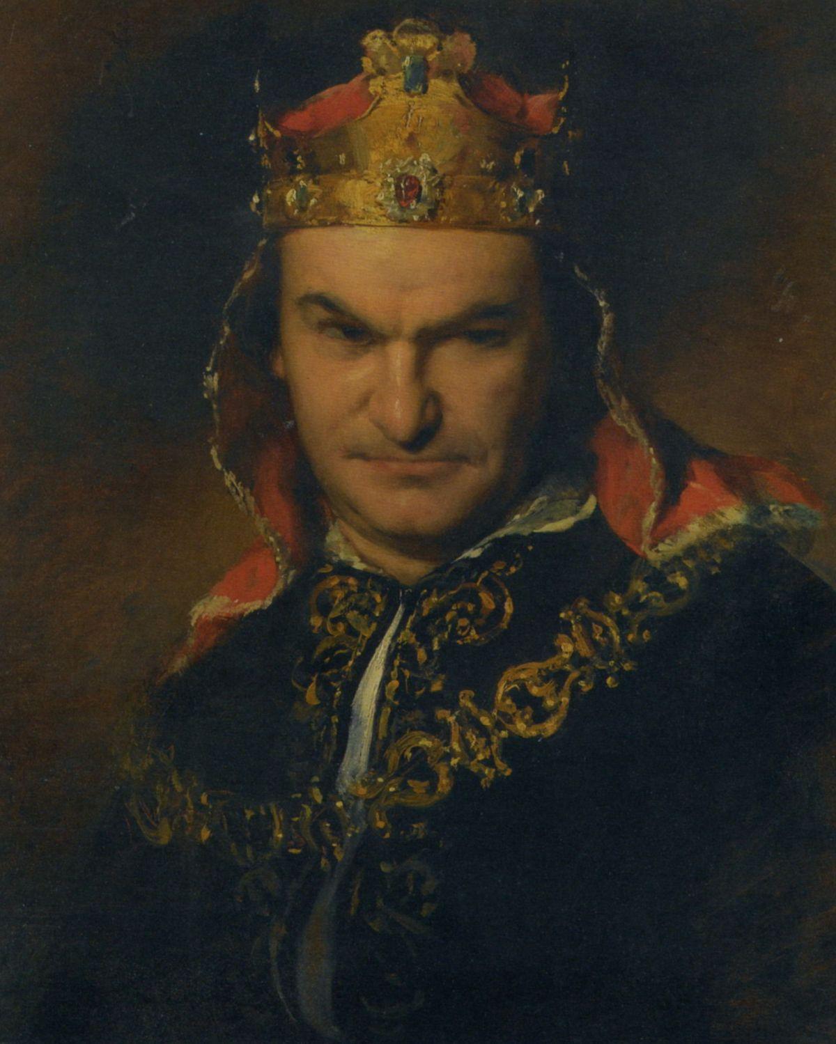 Portrait of the actor Bogumil Dawson as Richard III by Friedrich von Amerling