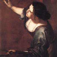 Self­Portrait as the Allegory of Painting by Artemisia Gentileschi