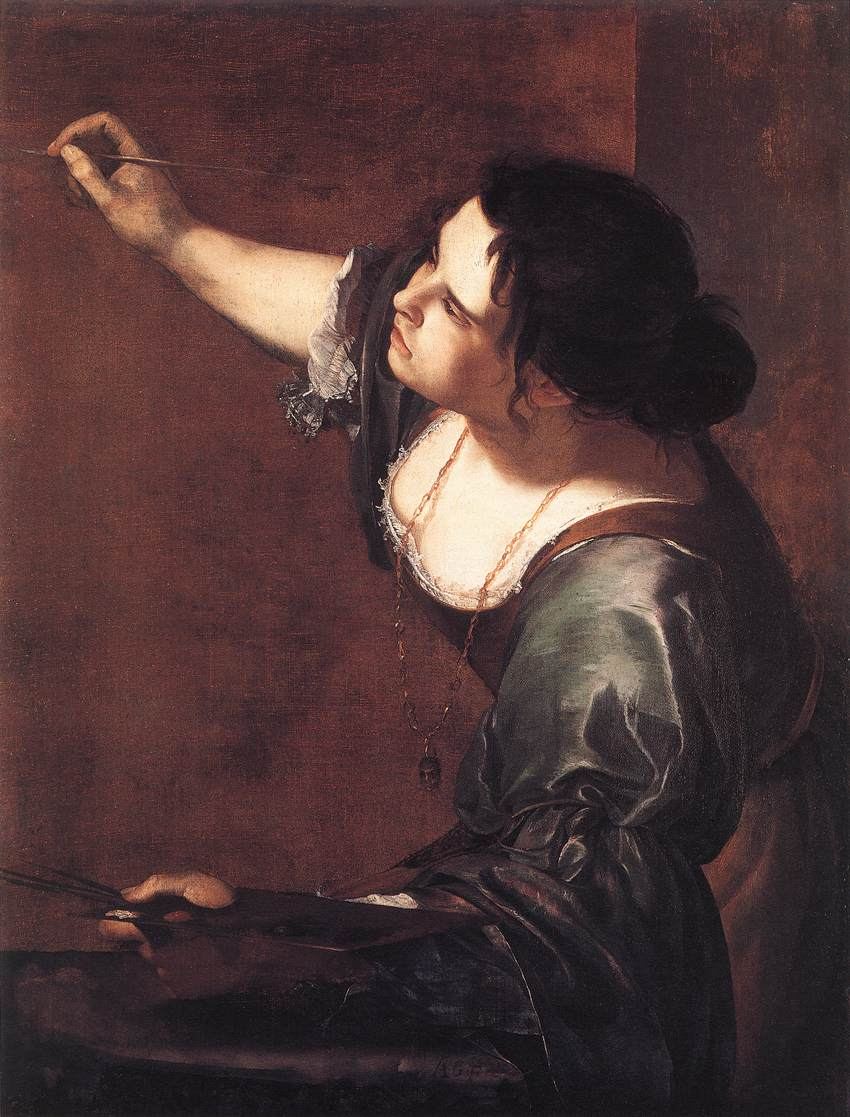 SelfPortrait as the Allegory of Painting by Artemisia Gentileschi