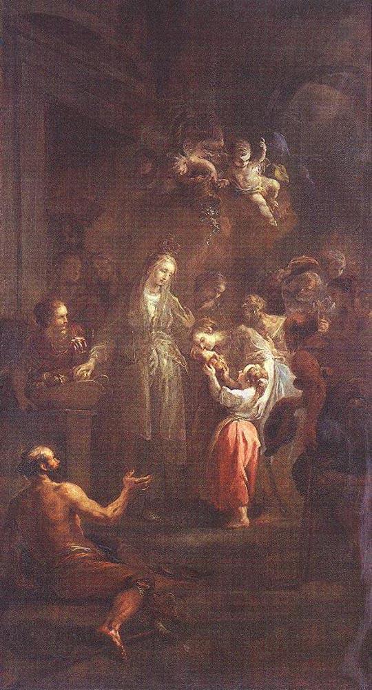 St Elisabeth Distributing Alms by Martin Johann Schmidt
