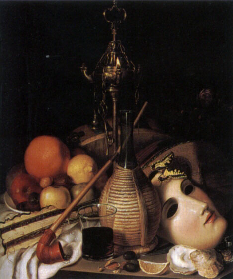 Still Life with Mask and Artefacts by Friedrich August Schlegel
