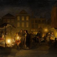 The Evening Market by Petrus Van Schendel