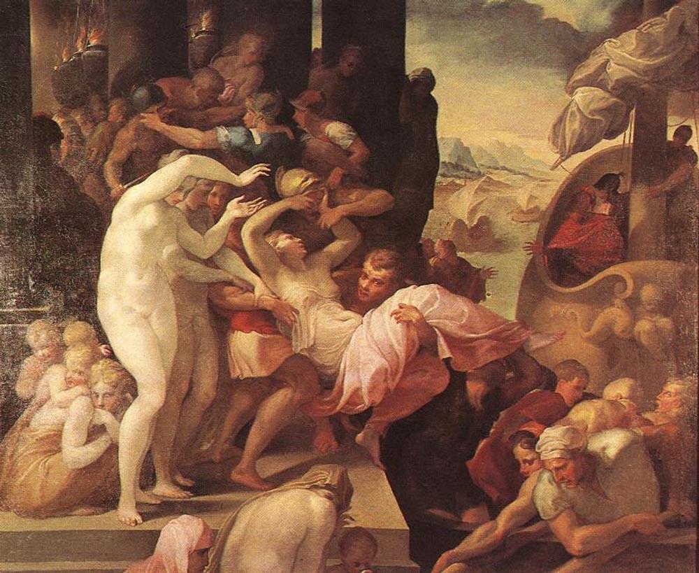 The Rape of Helene by Francesco Primaticcio