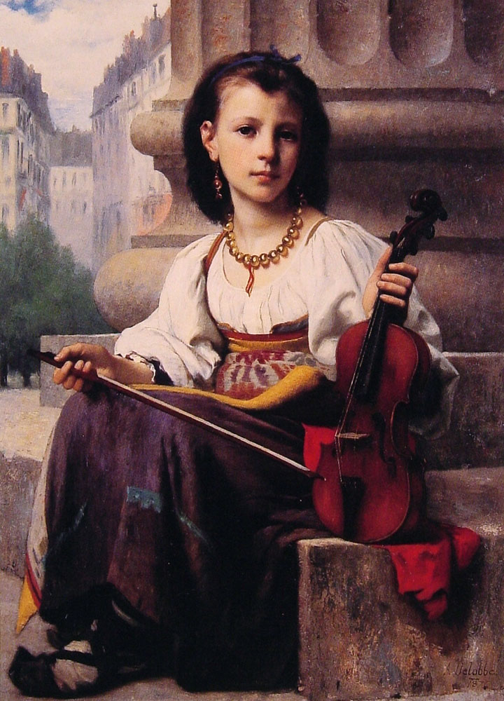 The Young Musician by Francois Alfred Delobbe