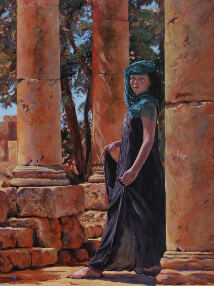 Pillar of Grace in Jarash by Mary Jane Q Cross