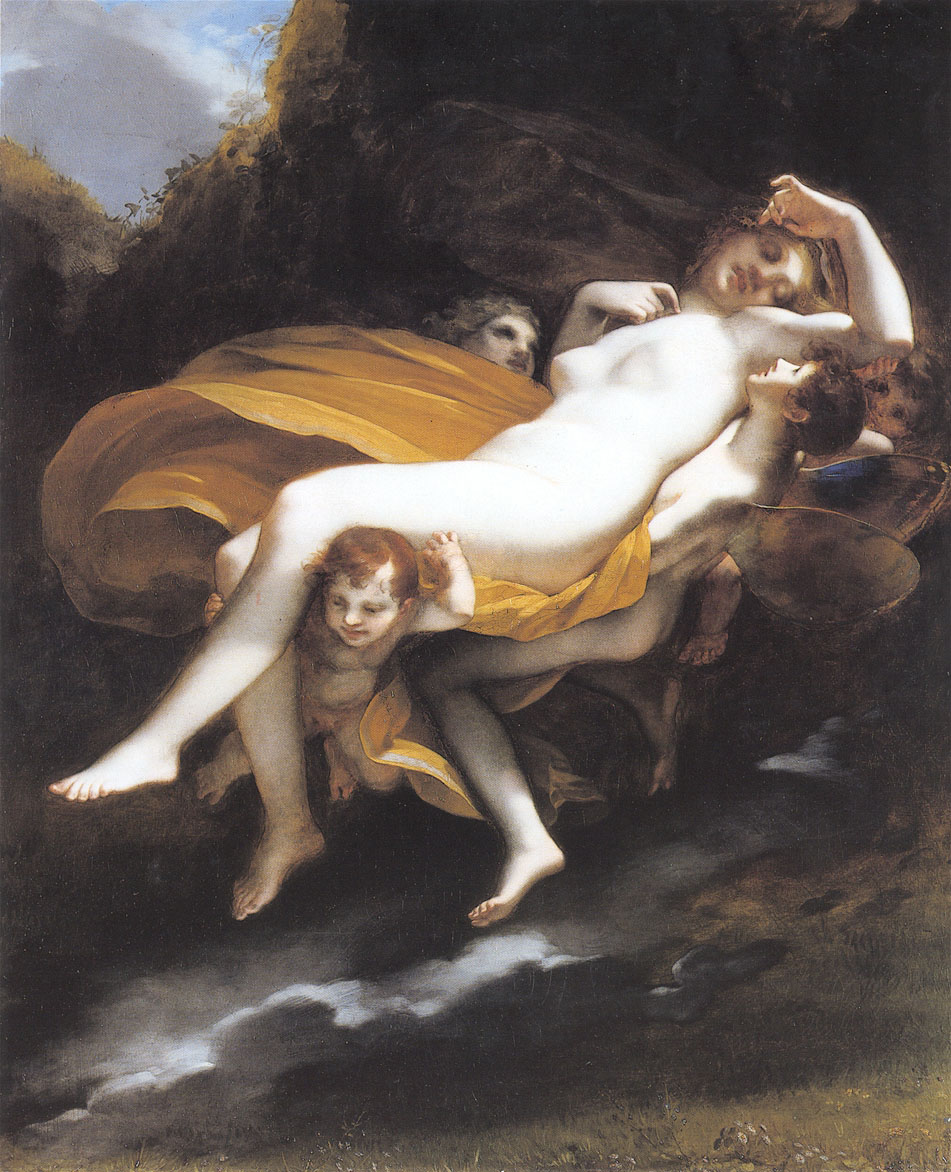 Psyche enleve par les zephyrs by Pierre Paul Prudhon