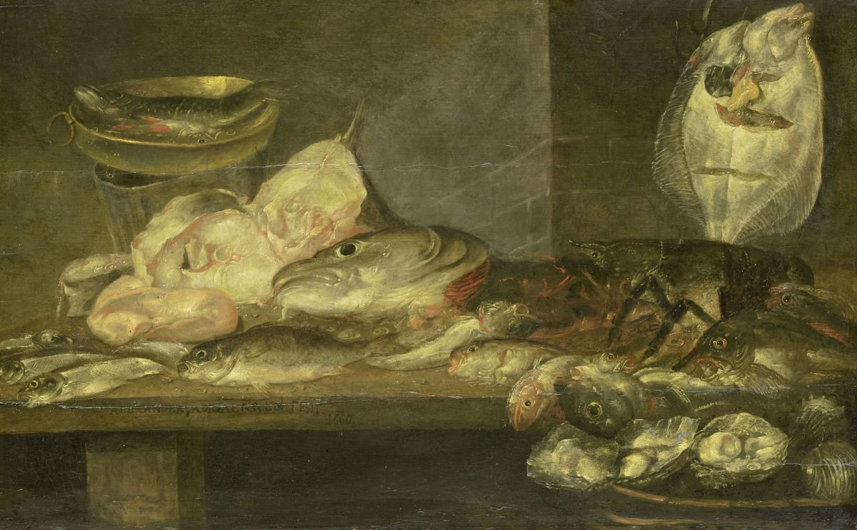 Still Life with Fish by Alexander Adriaenssen