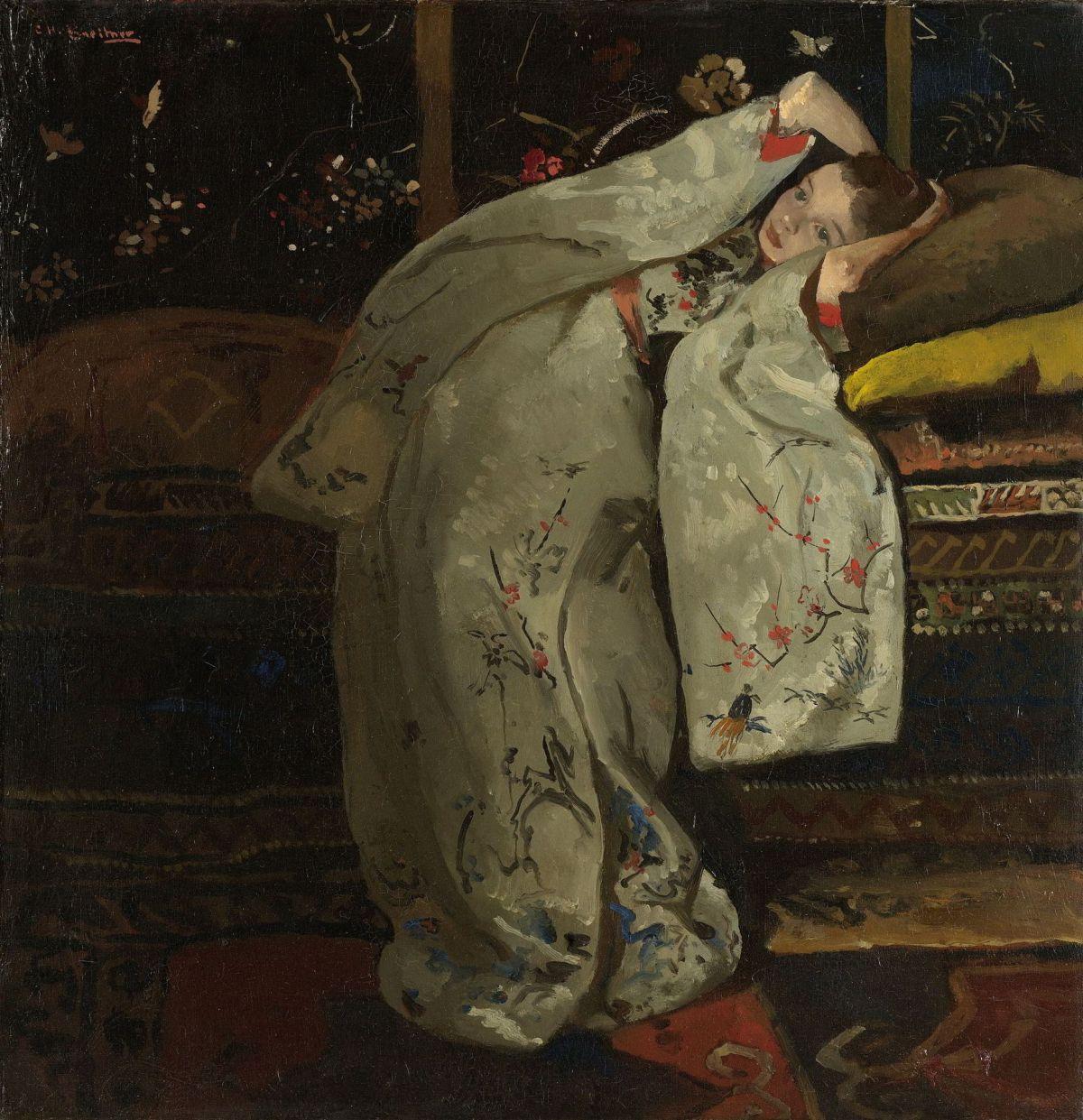 Girl in a White Kimono by George Hendrik Breitner