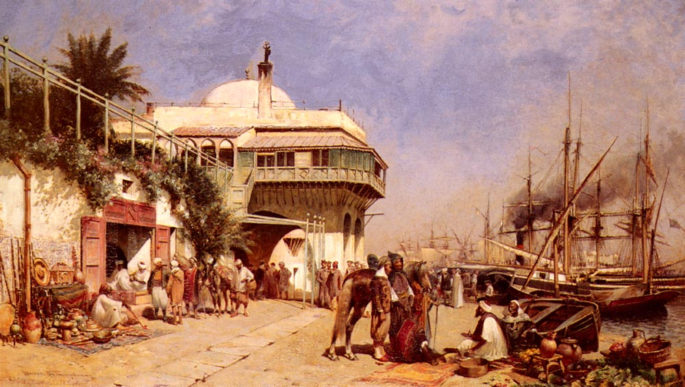 The Port Of Algiers by Alfred Wordsworth Thompson