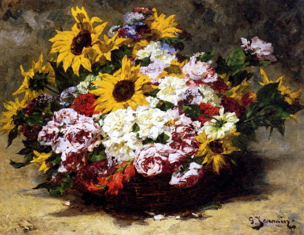 A Floral Bouquet by Georges Jeannin