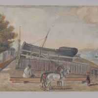 Berg's Ship Yard by William P. Chappel