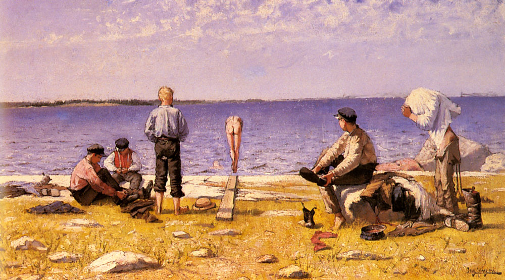 Boys On The Beach by Eugene Jansson