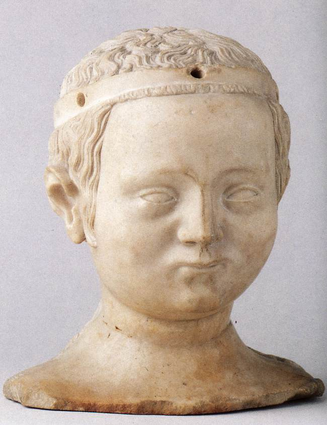 Head of Bonne de France by Jean De Liege