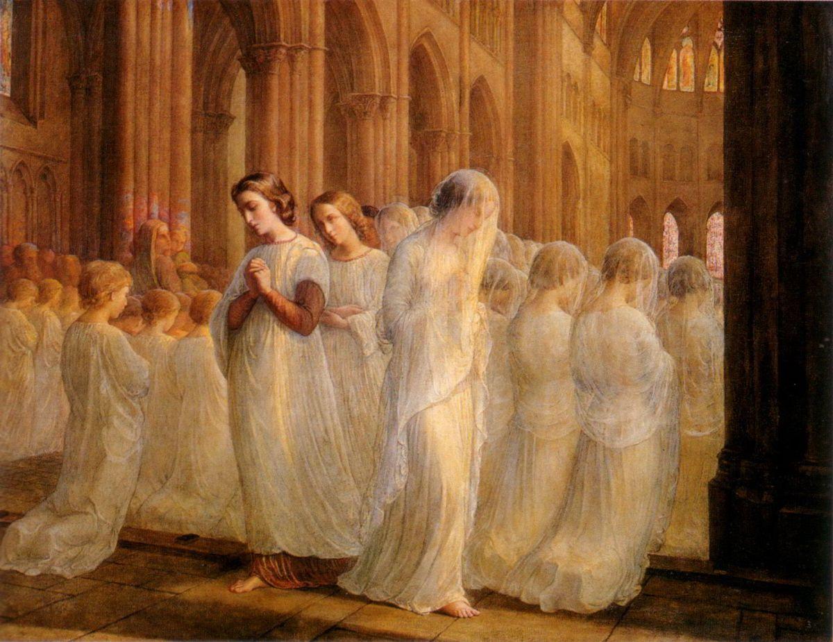 Le Poeme de l ame Premiere communion by Anne-Francois-Louis Janmot