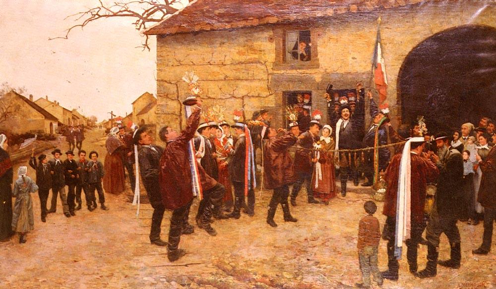 Les Conscrits by Alfred Pierre Joseph Jeanmougin