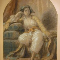Oriental Woman by Charles Francois Jalabert