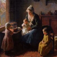 A Happy Family by Bernard Jean Corneille Pothast