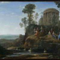 Apollo and the Muses on Mount Helicon by Claude Lorrain