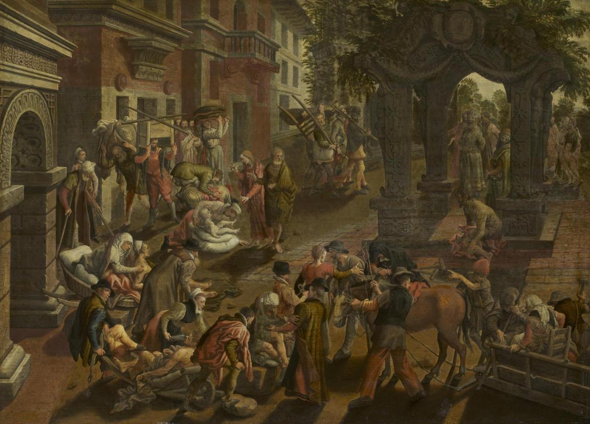 Apostles Peter and John Healing the Sick by Pieter Aertsen