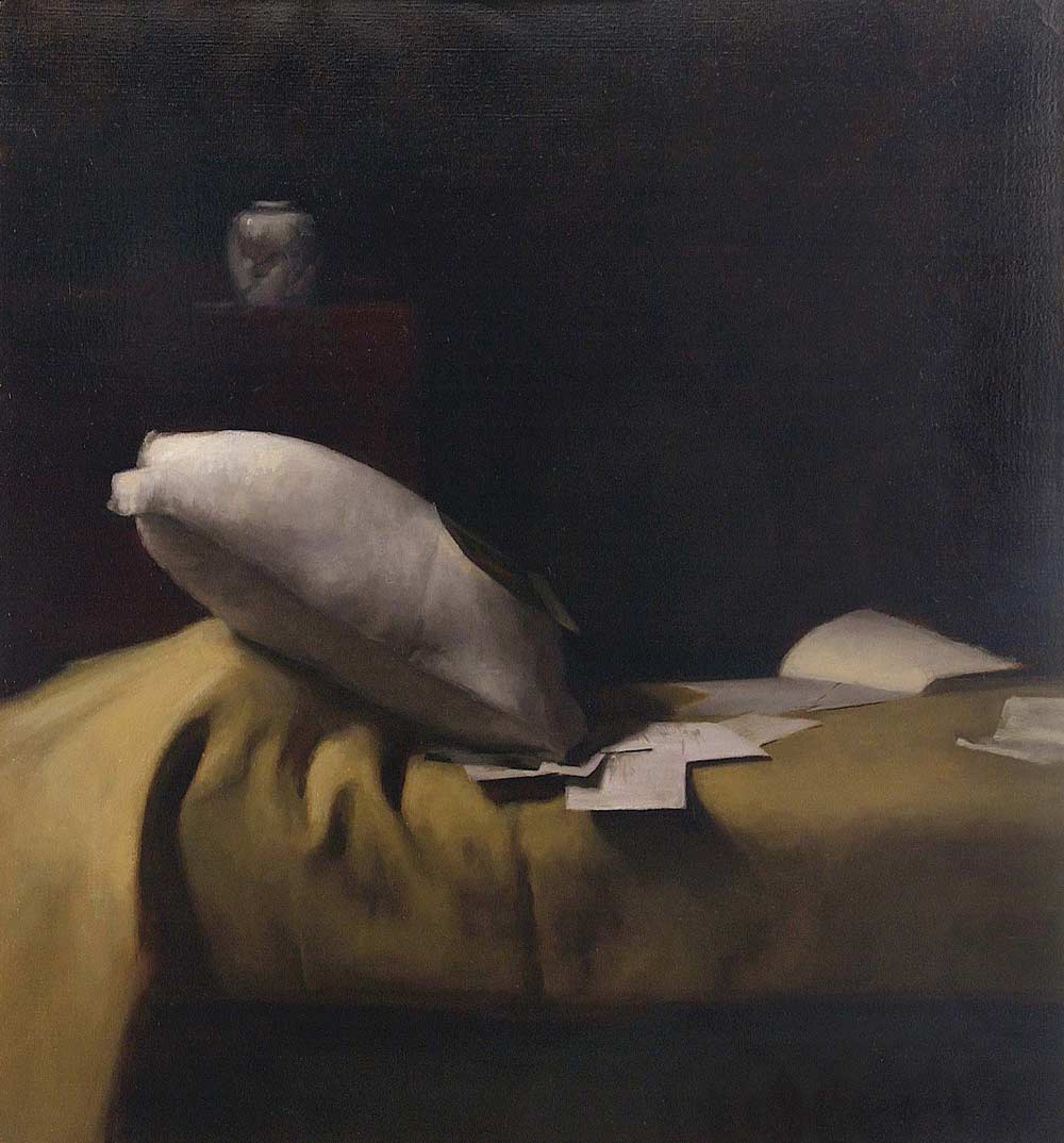 Bed Painting by Dana Levin