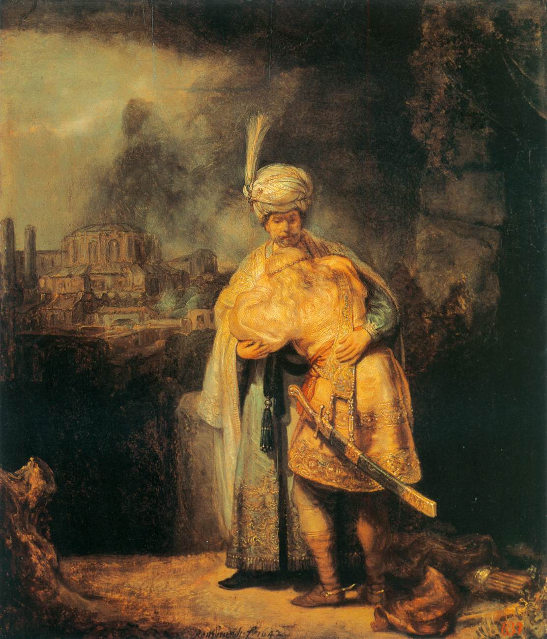 Biblical Scene by Rembrandt