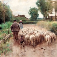 Bringing Home The Flock by Anton Mauve