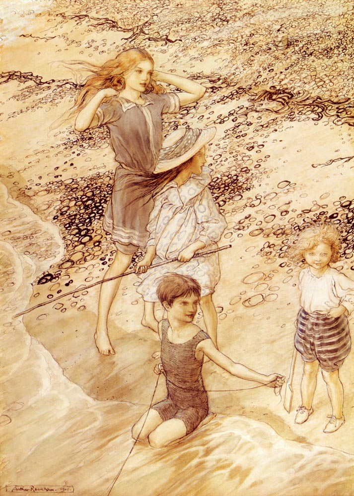 Children By The Sea by Arthur Rackham