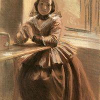 Emilie, Die Schwester Menzels by Adolph von Menzel