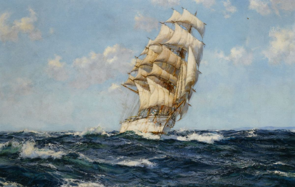 Fair Wind by Montague Dawson