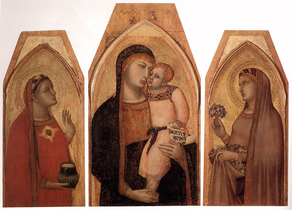 Madonna and Child with Mary Magdalene and St Dorothea by Ambrogio Lorenzetti