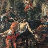 Martyrdom of St John the Evangelist at Porta Latina by Charles Le Brun
