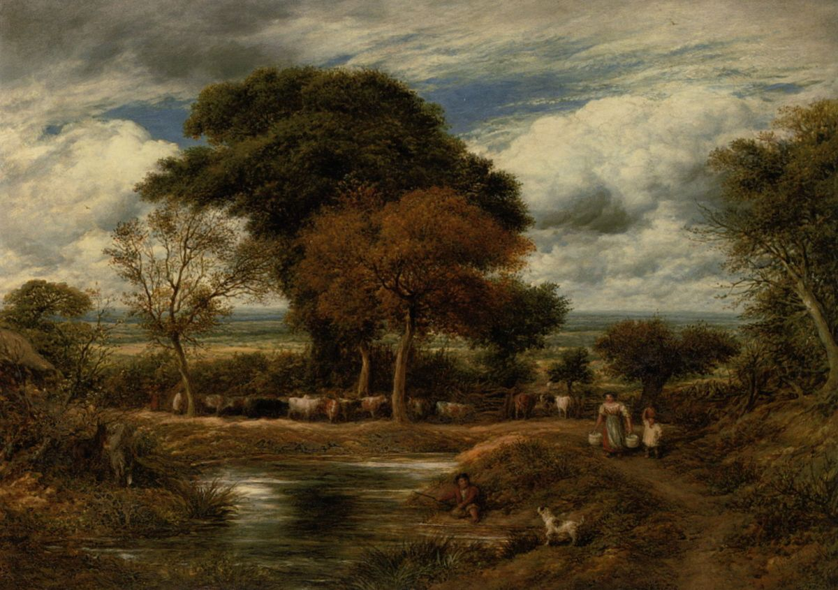 Milking Time by John Linnell