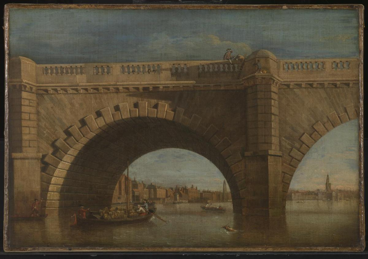 Part of Old Westminster Bridge by Samuel Scott